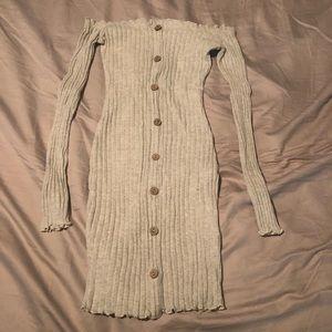 Fashionnova off the shoulder longsleeve mini dress